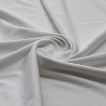 White - Plain 100% Cotton Interlock Double Jersey